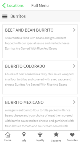 android Chapala Mexican Restaurant Screenshot 2