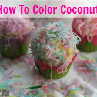 How to Color Coconut for the Prettiest Coconut Cream Cheese Frosting