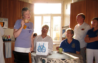 Photo: AND A PRESENTATION FOR LYNNE FOR ALL HER HARD WORK