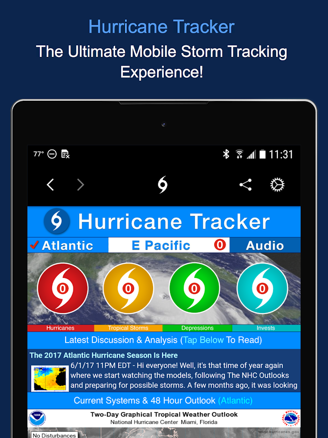 Hurricane Tracker- screenshot