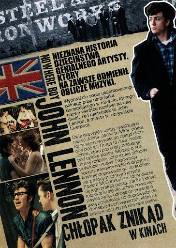 Tył ulotki filmu 'John Lennon. Chłopak Znikąd'