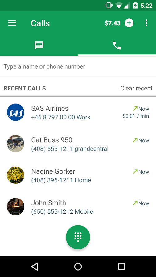Hangouts Dialer - Call Phones- screenshot