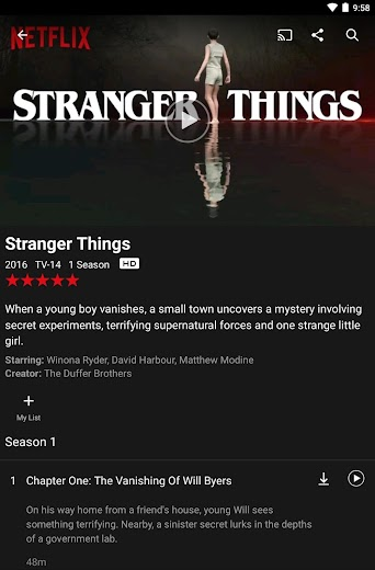 Screenshot 11 for Netflix's Android app'