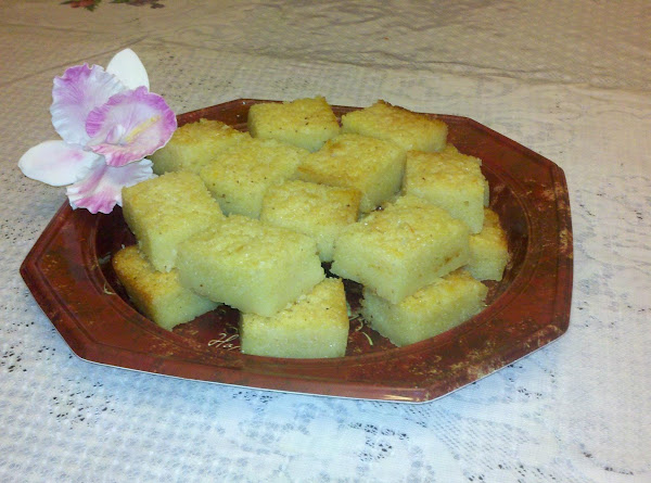 Cassava Cake With Coconut Flakes Recipe