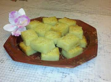 Cassava Cake with Coconut Flakes