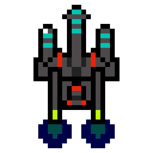 Retro Space Ship Shooter Star