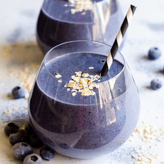Blueberry Protein Breakfast Smoothie.