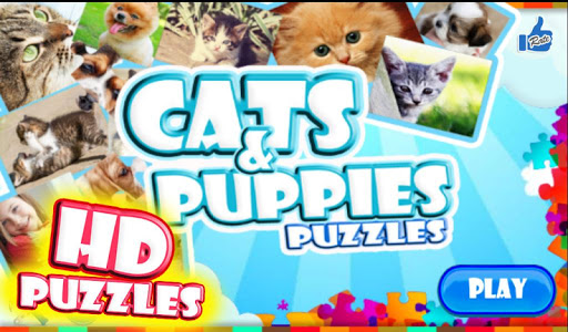 Cats puppies jigsaw puzzles