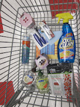 Photo: My cart, mostly filled with sale items and products that carried Balance Rewards.