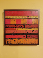 """Photo: """"Rusty Red""""  Metal wall plaque by Red River Studios"""