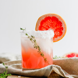 Citrus Paloma Mocktail with Thyme.