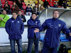 Photo: EDUARDO VILCHEZ, ANTON SUÑER Y ALFONS GARCIA (PALAMOS CF 2012/13)