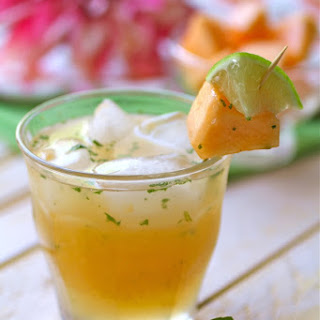 Cantaloupe- Mint Caipirinha Cocktails.