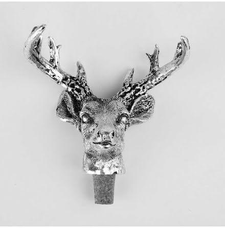 Flaskkork Reindeer Silver Raw