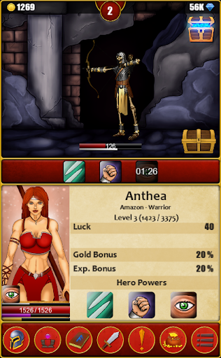 Infinite Dungeons( Clicker / Idle  RPG )  captures d'écran 2