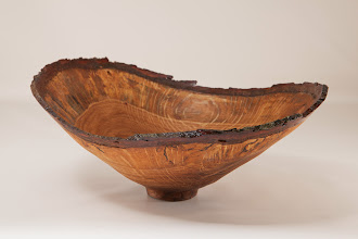 "Photo: Bob Grudberg 4 1/2"" x 10 1/2"" x 8"" natural-edge bowl [Tudor Place white oak]"