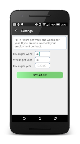 android Simple Salary Calculator Screenshot 1