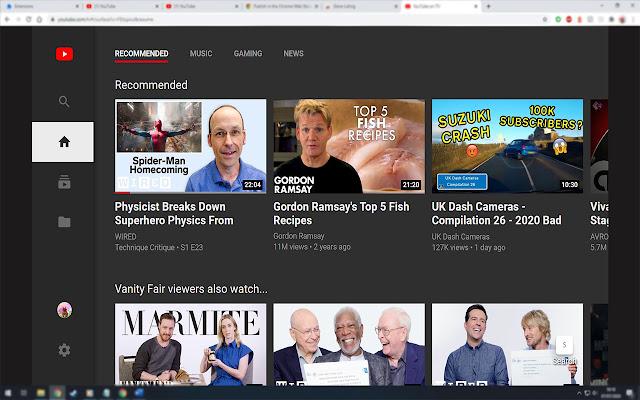 YouTubeTV trên trình duyệt