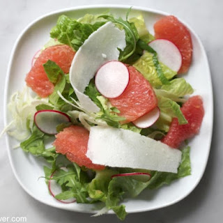 Romaine Salad with Radishes, Fennel and Grapefruit