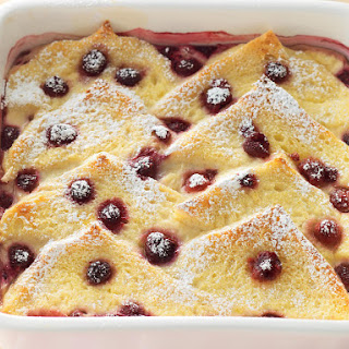 Raspberry Bread Pudding