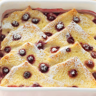 Raspberry Bread Pudding.