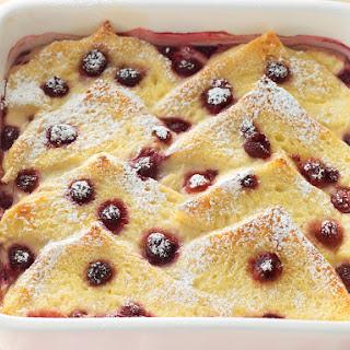 Raspberry Bread Pudding.