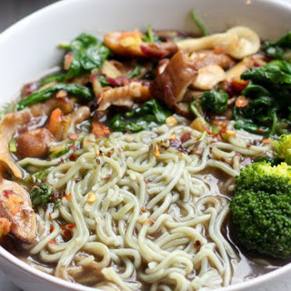 Savory Mushroom and Vegetable Ramen Soup [Vegan]