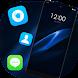 Theme for Realme 2 black blue real wallpaper