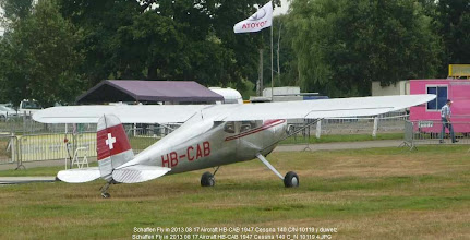 Photo: Schaffen Fly in 2013 08 17 Aircraft HB-CAB 1947 Cessna 140 C/N 10119