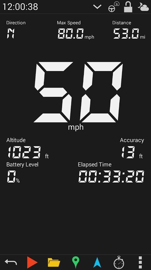 GPS HUD Speedometer Free- screenshot