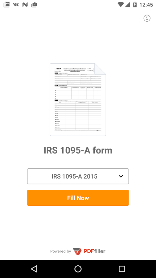 IRS 1095-A form- screenshot