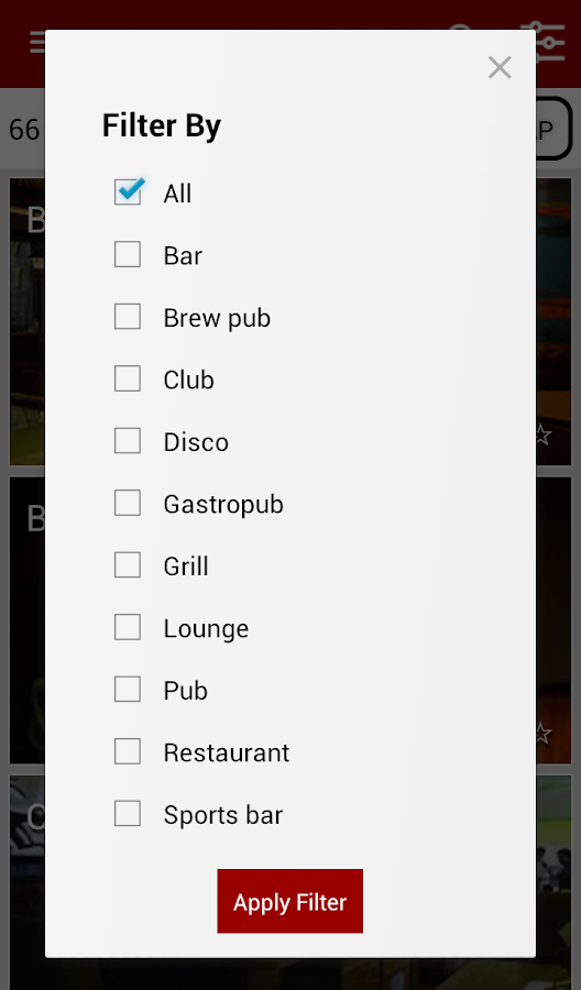 Top Bars Pubs Nightlife Finder- screenshot