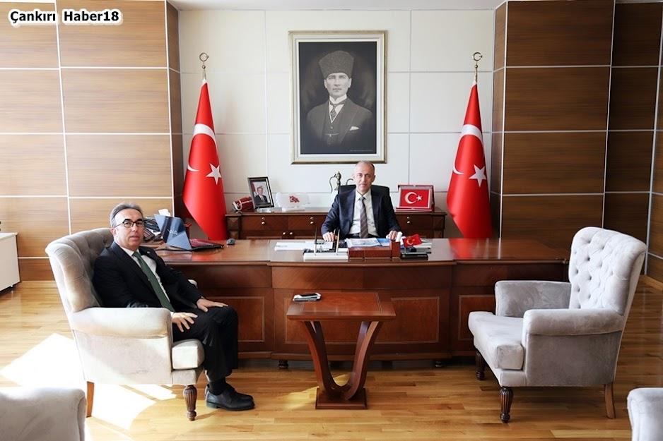 İl Göç İdaresi Çankırı Müdürlüğüne atanan Uğur Temel Çeber, Vali Hamdi Bilge Aktaş