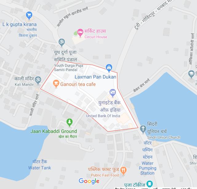 Map Rajendra Park Bekar Bandh Dhanbad