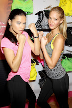 Photo: -New York, NY - 01/15/2013 - Victoria's Secret Angels Kick Off a Healthy & Fit New Year with Victoria's Secret Sport-PICTURED: Adriana Lima, Erin Heatherton-PHOTO by: Marion Curtis/Startraksphoto.com-Filename: MC618040-Location: Victoria's Secret Herald SquareEditorial - Rights Managed Image - Please contact www.startraksphoto.com for licensing feeStartraks Photo New York, NY For licensing please call 212-414-9464 or email sales@startraksphoto.com
