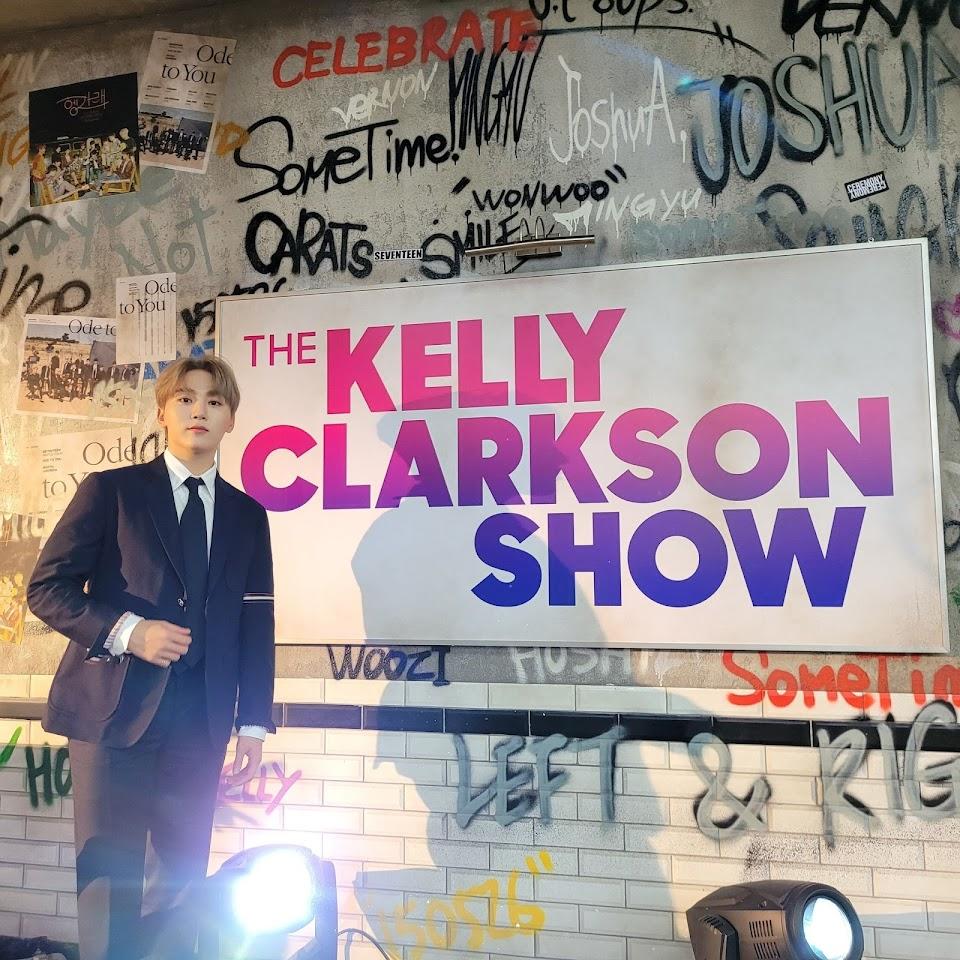 seventeen seungkwan kelly clarkson show @pledis_17