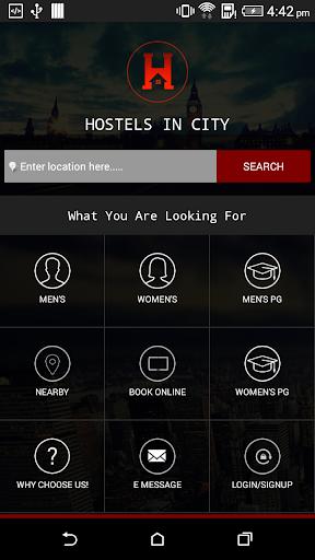 Hostels in city