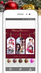 Christmas Frames Selfie College Maker - náhled