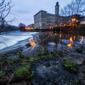 Mill and Weir by Andrew Holland - Buildings & Architecture Public & Historical
