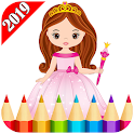 Princess Coloring For Adult 2019 icon