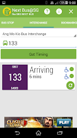 Screenshot of Next Bus@SG (fka SBS Next Bus)