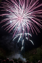 Photo: Feu d'Artifice - Highlight of our village fete dinner is the midnight fireworks show.
