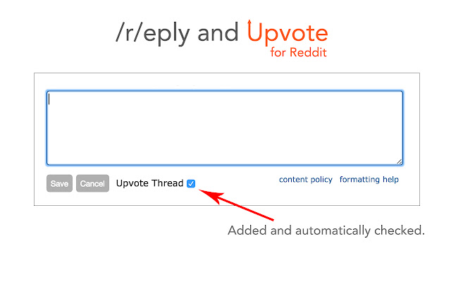 Reply and Upvote for Reddit