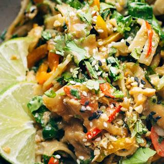 Thai Noodle Salad with Peanut Lime Dressing.