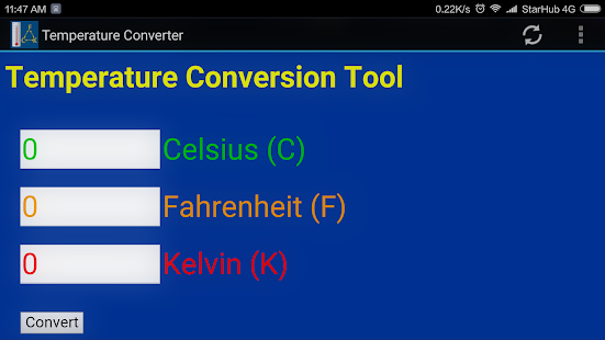 Temperature Converter Degree Celsius To Kelvin Apps On Google Play