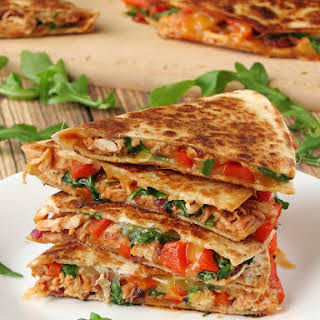 Easy Chicken Quesadillas.