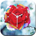 Rose Flower Clock LWP icon