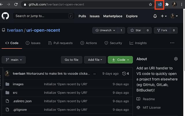 Open in VS Code