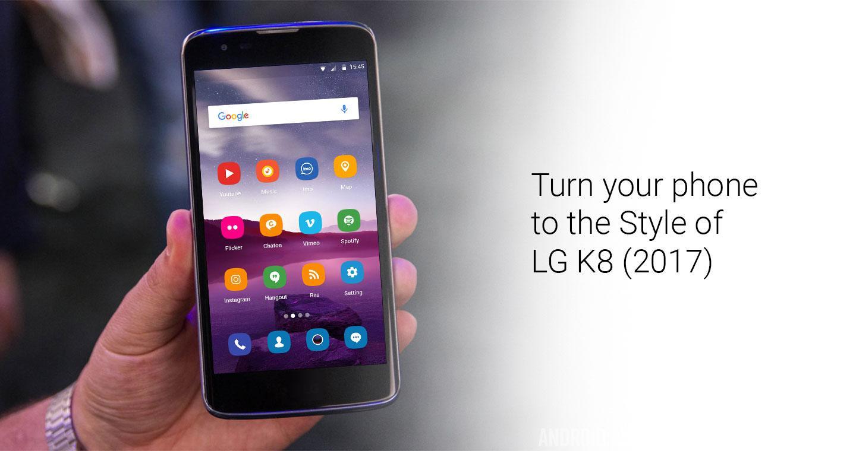lg k8 2017. theme /launcher for lg k8 2017- screenshot lg 2017 r