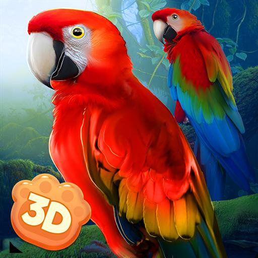 Wild Parrot Sim 3D: Jungle Bird Fly Game